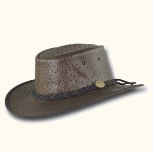 Brown The Foldaway Ostrich Hat
