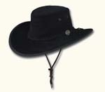 Black Wide Brim Suede Hat