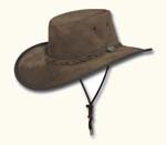 Brown Wide Brim Suede Hat