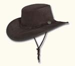 Chocolate Wide Brim Suede Hat