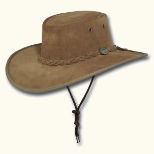 Hickory Wide Brim Suede Hat