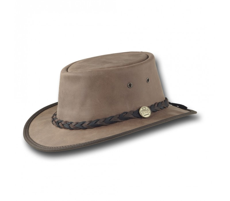 99d31f4188212d The Narrow Brim Suede Hat by Barmah. Braided Hatbands, water resistant,  lightweight. Foldable - Supplied with Storage Bag; 3M Scotch Guard ...